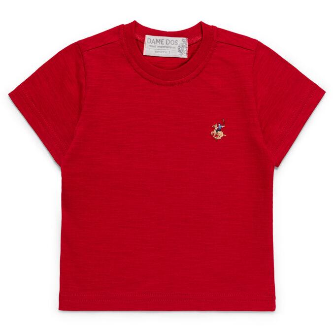 Camiseta Lisa Dame Dos Vermelha - Costas
